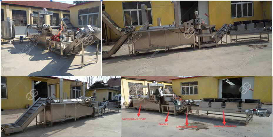 Industrial Fully Automatic Fresh Frozen French Fries Peanut Frying Production Line Making Sweet Potato Chips Machine For Sale