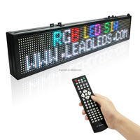 RGB Scrolling Text Light Advertising Message Remote Easy Programmable LED Name Board