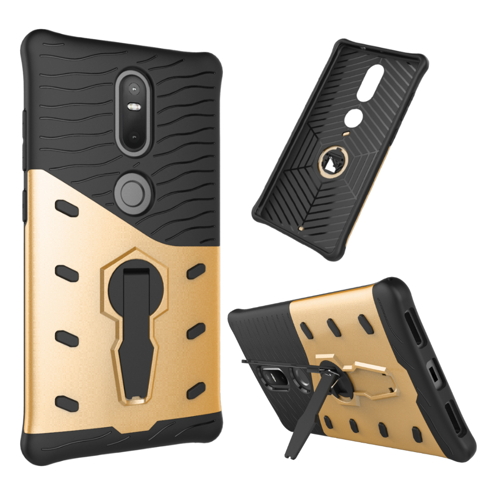 <strong>2</strong> in 1 Hybrid armor Kickstand Phone Cover for lenovo phab2 plus