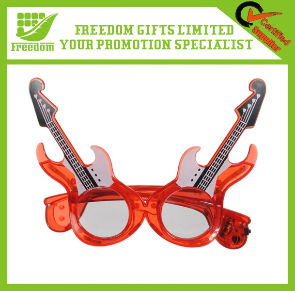 Promotional Flashing LED Light Guitar Glasses