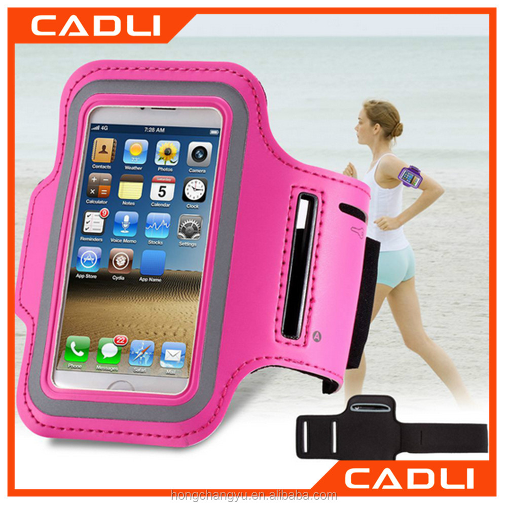 OEM Phone Case Holder Pouch Outdoor Running Sport Gym Jogging Arm Band Leather Waterproof Bag Case for iPhone 6 5S