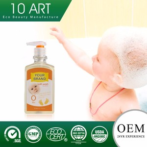 Wholesale Pediatrician tested Head-to-toe Hypoallergenic formula Baby shower gel best baby bubble bath
