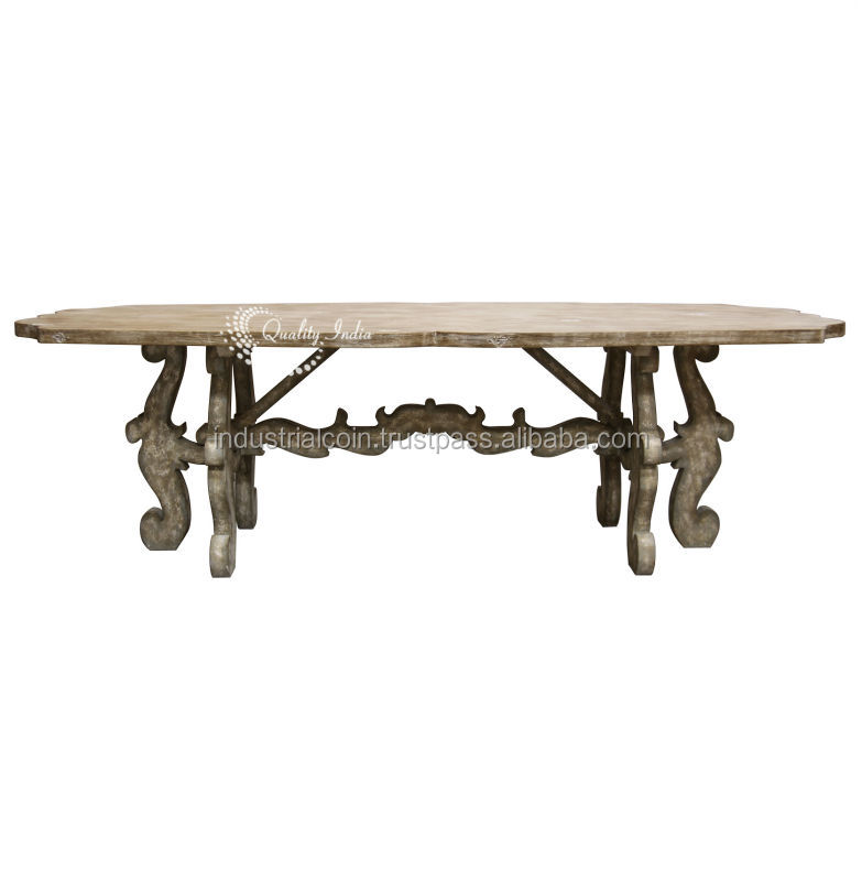 French Country Cream Colour Dining Table