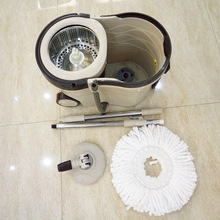 Easy spin mop and bucket floor cleaning system with wheels