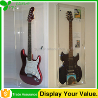 High Quality Solid Clear Acrylic Guitar Display Case
