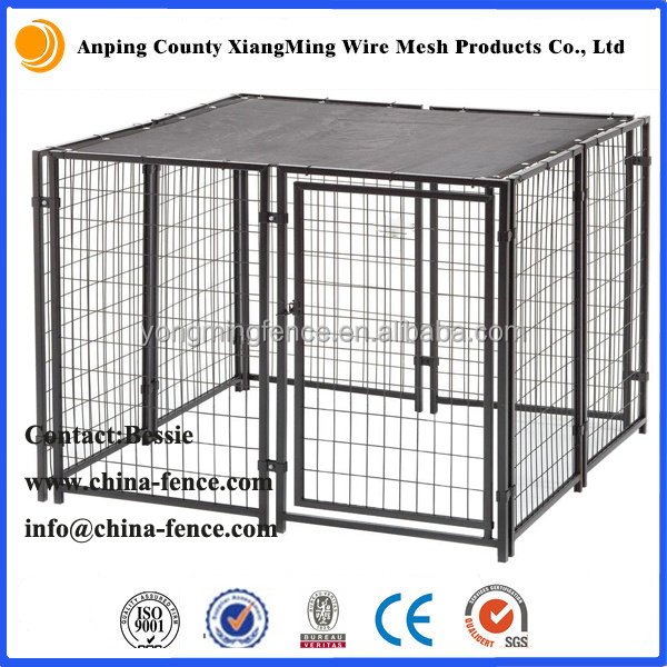 Powder coated 6ft high Indoor Metal Dog Kennel Run
