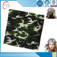 Cheap price custom square bandana printing military scarf