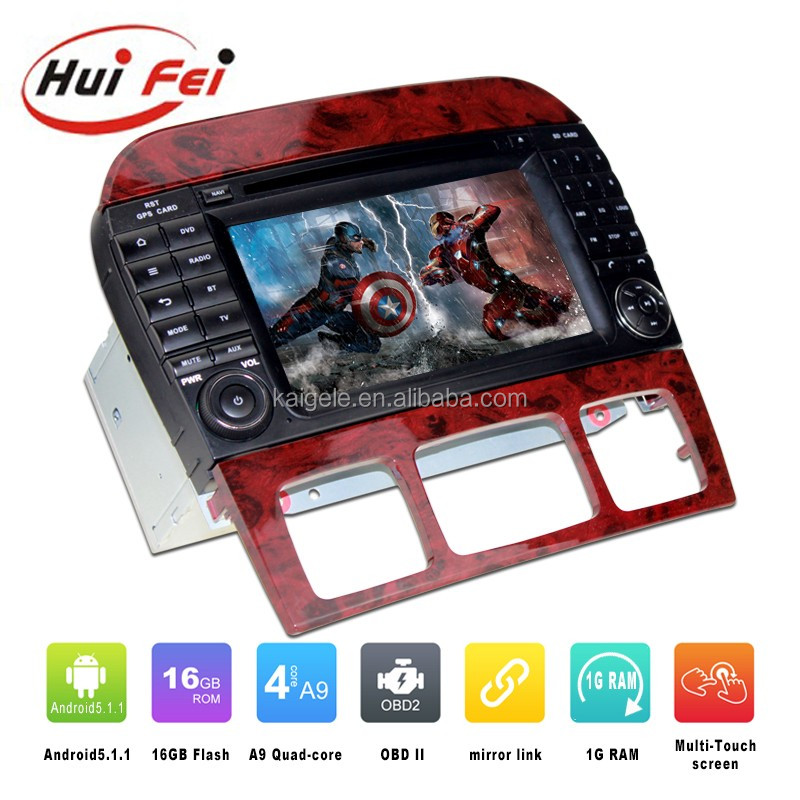Huifei Android5.1 Quad Core central multimidia for Benz S class W220/S280/S320/S350/S400 with mirror link,GPS,Radio function