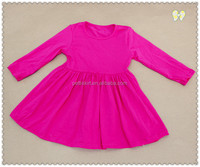 New Design Wholesale Winter Dresses Kids Girls Ruffle Dress