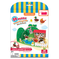 3D Puzzle Country Side - Hen & Duck