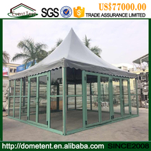 Aluminum alloy outdoor waterproof portable party glass door canopy tents for event party