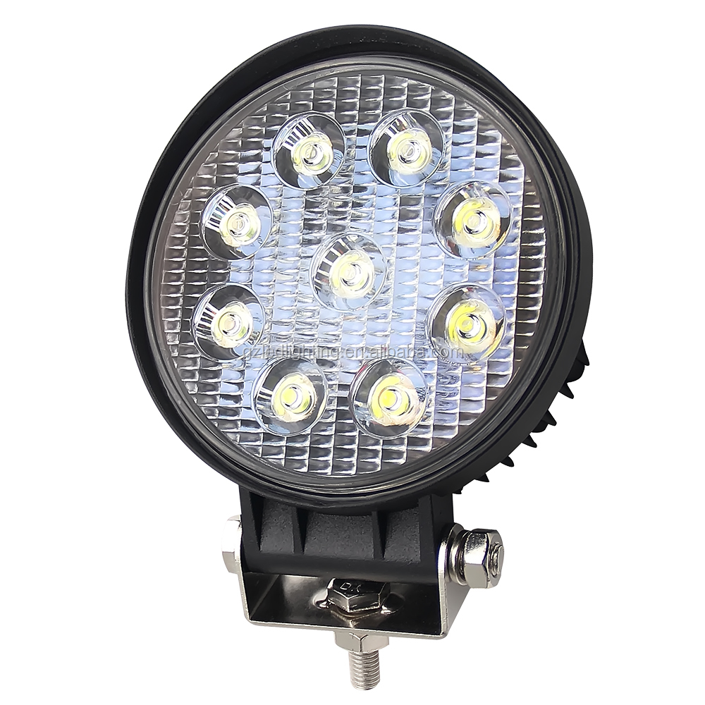 4.6'' Led Work Light 27W Spot & Flood Beam for GAZ UAZ Lada Niva 4x4 Auto Motorcycle Truck Tractor Car Styling