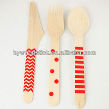 Craft Ready Wooden Disposable Cutlery For Stamping, Painting