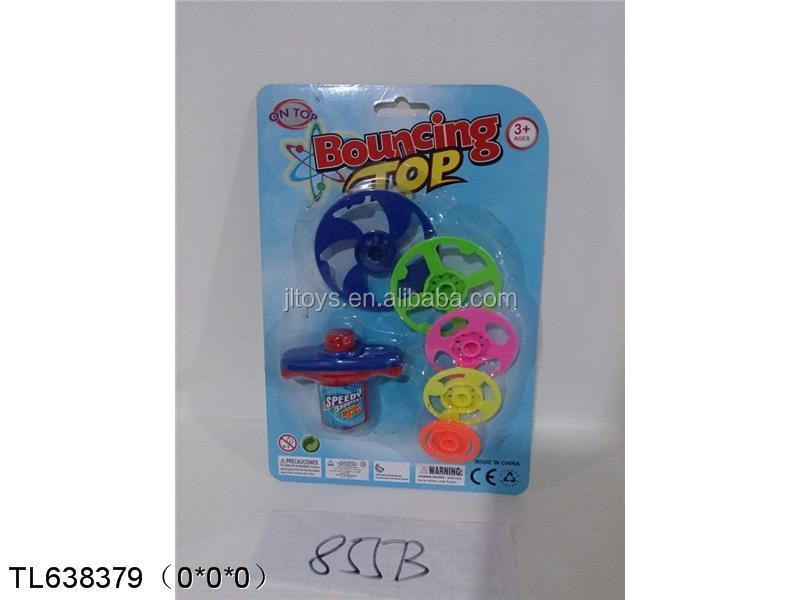 flashng bouncing spin top super bounce top toys