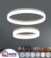 hotel led battery operated acrylic ring pendant lamp light with color changing