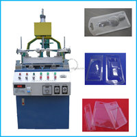Manual plastic film three edge folding machine