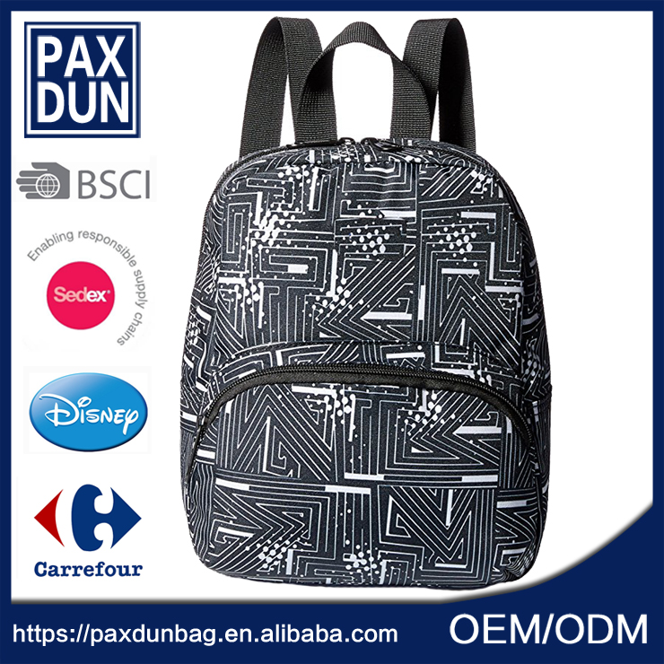 Custom Casual Canvas Backpack With Print