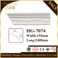 HG7074 polyurethane decorative material/pu cornice moulding