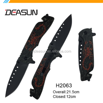 Stainless steel tactical camping knife