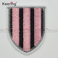 Fashion very hot flag vintage Embroidered Sequin Patches WEFB-050