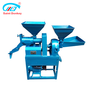 Mini crusher and rice milling combine machine