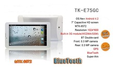 7inch Android 4.4 Bluetooth tablet Double cameras 3G tablet