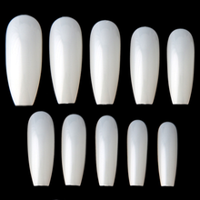 Wholesale NTS-50 500Pcs DIY Full Cover acrylic nail art tips Ballerina Nail Shape glamour nail tips with box