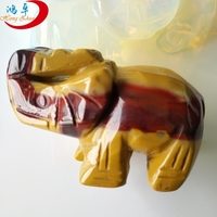 Elephant carving indian agate crystal beads