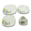 China dinnerware porcelain with flower decals