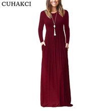 Vintage Boho Loose Maxi Dresses Wholesale Spring Long Sleeve Casual Long Vestido Made In China