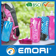 Promotional branded 480ml BPA free bottle with carabiner