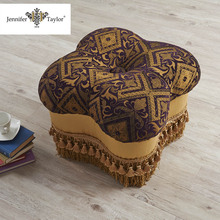 Home furniture general use fabric upholstery footstool, small furniture one piece MOQ ottoman footstool
