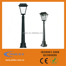 Outdoor Black Solar LED Post Lamp