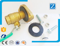 "3/4"" FNPT Brass Ball Valve Kit-Swivel Flange"
