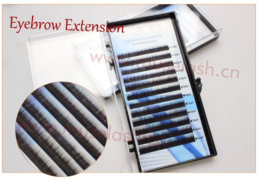 2016 Wholesale premium eyebrow extension individual black or brown color mink brow