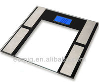 AS-F203 body fat/hydration monitor scale with blue backlight and 10 person memory