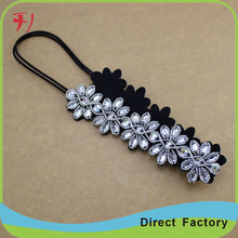 High quality durable using various hair accessories crystal stretch headbands