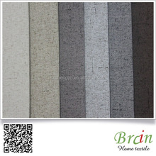 Linen look 100% polyester plain woven fabric for sofa,100 polyester recycled micro fleece fabric