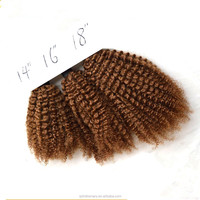 Crochet Braids With Human Hair Bulk Russian Amigos Dancing Curl Yellow Brown Bulk Hair