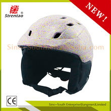 Fashion design abs + eps material ski helmet ce approved skiing helmet cover