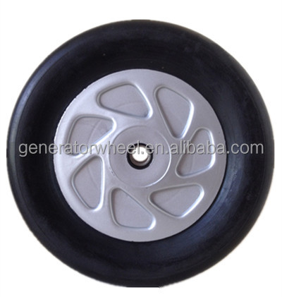 solid rubber wheels 8x1.75 with a lid for garden trailer, utility cart