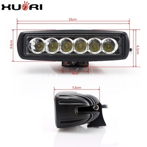 "Guangzhou factory Spot/flood beam18W mini led worklight 6"" LED work light bar for offroad tractor truck motorcycle"