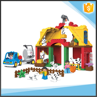 Happy Farm Plastic Building Block Construct Toy For Kids
