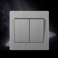 Wholesales Stainless wall light switch plate with indicator light