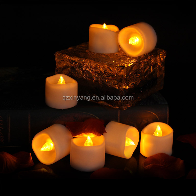 Battery Operated Led Lights For Decoration Simulated Flickering Led Pillar Candles