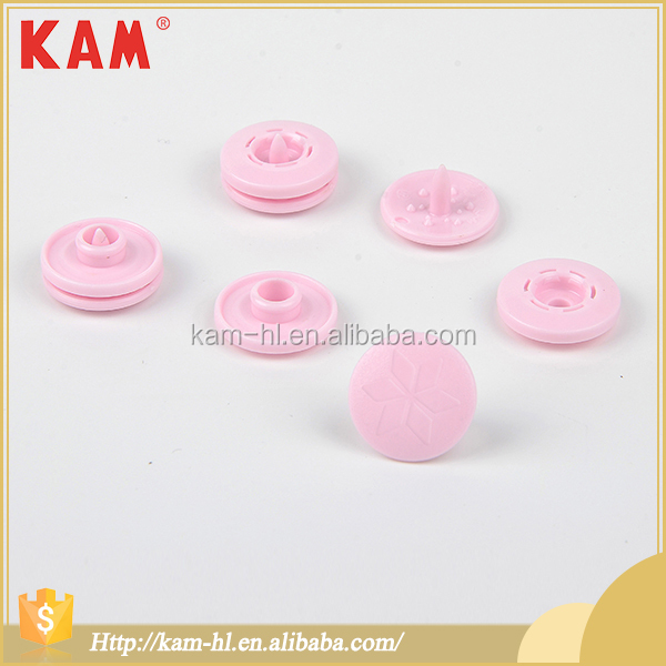 China KAM pink custom garment plastic snap button for clothing
