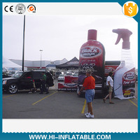Hottest giant inflatable advertising car accessories / car wax bottle replicas model for sale