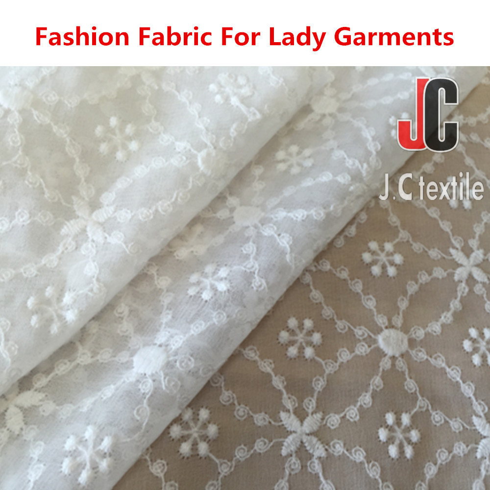 JC3343 wholesale 100% polyester chemical embroidered organza fabric