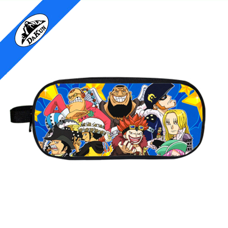 Promotional custom polyester printing child pencil bag with zip