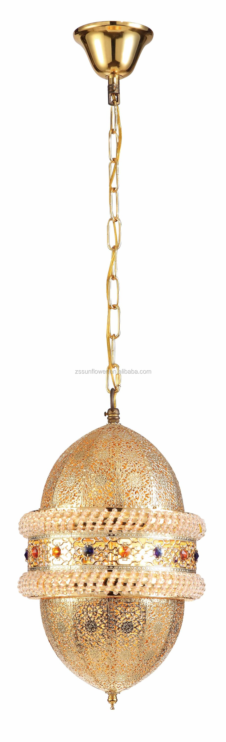 Arabic style metal ball pendant lamp for restaurant decoration
